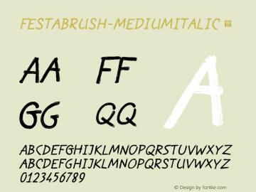 FestaBrush-MediumItalic