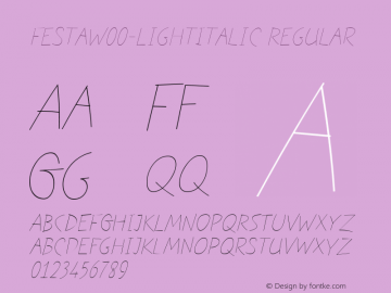 Festa-LightItalic