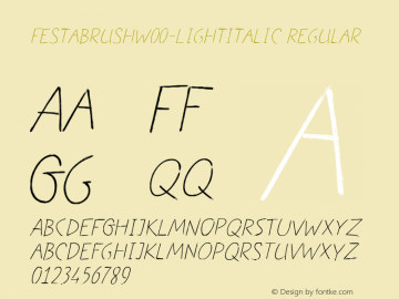 FestaBrush-LightItalic