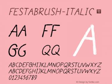 FestaBrush-Italic