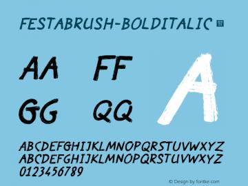 FestaBrush-BoldItalic