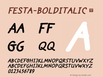 Festa-BoldItalic
