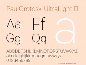 PaulGrotesk-UltraLight