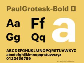 PaulGrotesk-Bold