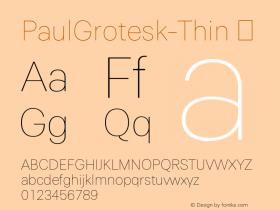 PaulGrotesk-Thin