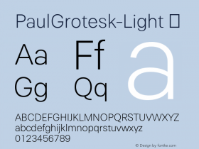 PaulGrotesk-Light