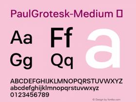PaulGrotesk-Medium