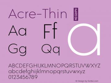 Acre-Thin