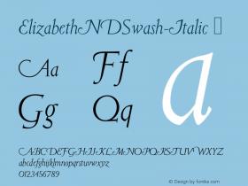 ElizabethNDSwash-Italic