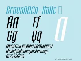 BravoNDCn-Italic