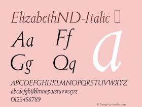 ElizabethND-Italic