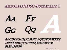 AndralisNDSC-BoldItalic