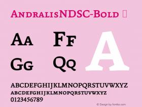 AndralisNDSC-Bold