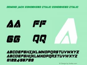 Domino Jack Condensed Italic