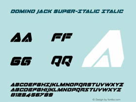 Domino Jack Super-Italic