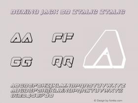 Domino Jack 3D Italic