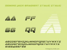 Domino Jack Gradient Italic