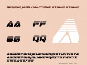 Domino Jack Halftone Italic