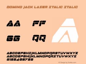 Domino Jack Laser Italic