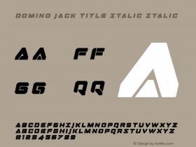 Domino Jack Title Italic