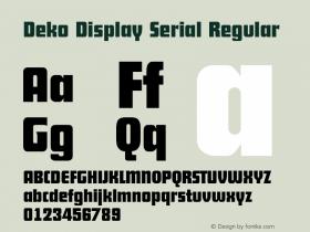Deko Display Serial
