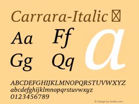 Carrara-Italic