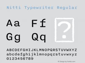 Nitti Typewriter