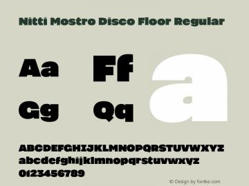 Nitti Mostro Disco Floor