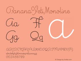 BananaYetiMonoline
