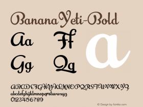 BananaYeti-Bold