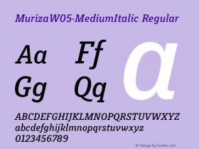 Muriza-MediumItalic