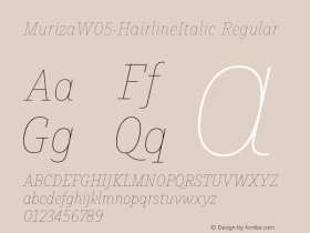 Muriza-HairlineItalic