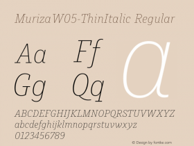 Muriza-ThinItalic