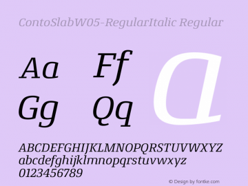ContoSlab-RegularItalic