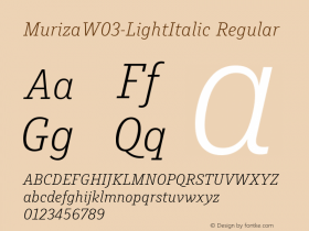 Muriza-LightItalic