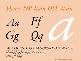 Henry NP Italic OSF