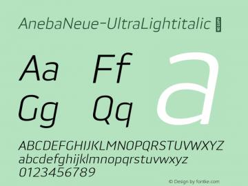 AnebaNeue-UltraLightitalic