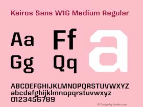 Kairos Sans W1G Medium