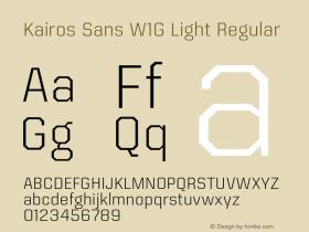 Kairos Sans W1G Light