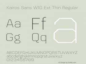 Kairos Sans W1G Ext Thin