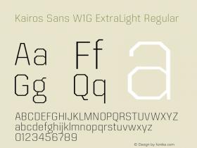 Kairos Sans W1G ExtraLight