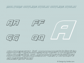 Moltors Outline Italic