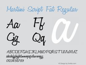 Martini Script Fat