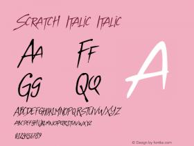Scratch Italic