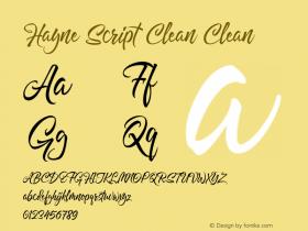 Hayne Script Clean
