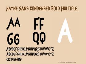Hayne Sans Condensed Bold