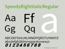 Speedy Right italic