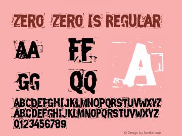 Zero Zero Is