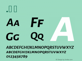 Alegreya Sans SC Bold Italic