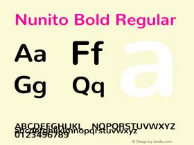 Nunito Bold